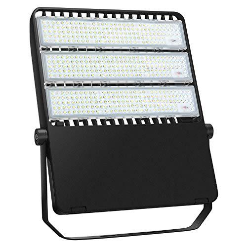 LEDMO 300W LED Flood Light (900W Equivalent) 42,000LM 5000K Daylight Stadium Lights IP65 Waterproof Outdoor Security Lighting Fixture for Backyard Court Warehouse Playground