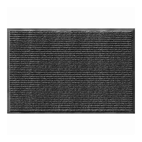 AmazonBasics Poly Linear-Rib Commercial Carpet Vinyl-Backed Mat 3X4 Pepper