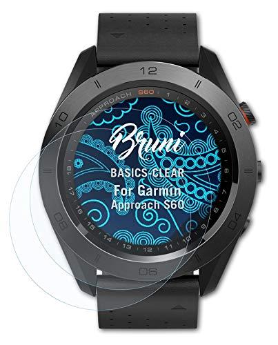 Bruni Schutzfolie kompatibel mit Garmin Approach S60 Folie, glasklare Bildschirmschutzfolie (2X)