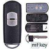 Auto Smartkey Funk Schlüssel Gehäuse 2 Tasten für Mazda 2 3 6 CX-3 CX-5 MX-5