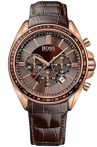 Hugo Boss Men's 1513093 Brown Leather Quartz Watch