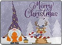 クリスマスのノームとトナカイエリアの敷物、リビングダイニングルームの寝室のキッチン用の敷物、5'X7'の保育園の敷物の床のカーペットヨガマット