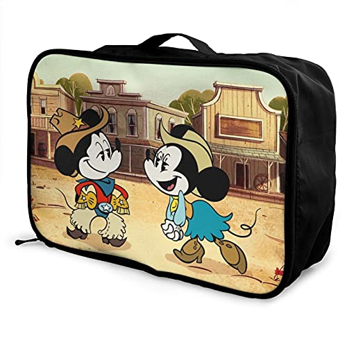 Bolsa de viaje de Mickey Minnie Mouse, impermeable, ligera, de gran capacidad, portátil, bolsa de equipaje de fin de semana, bolsa de equipaje durante la noche