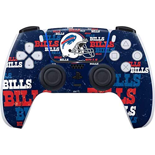 Skinit Decal Gaming Skin Compatible with PS5/PS5 Digital Edition DualSense Controller - Officially Licensed NFL Buffalo Bills - Blast Alternate Design