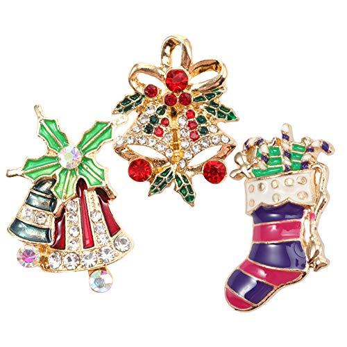 EXCEART Amuletos de Navidad 12 Piezas con Palo de Joyería DIY Amuletos de Navidad para Collar Pulsera Pendientes Pendientes de Botón Pendientes Accesorios Amuletos
