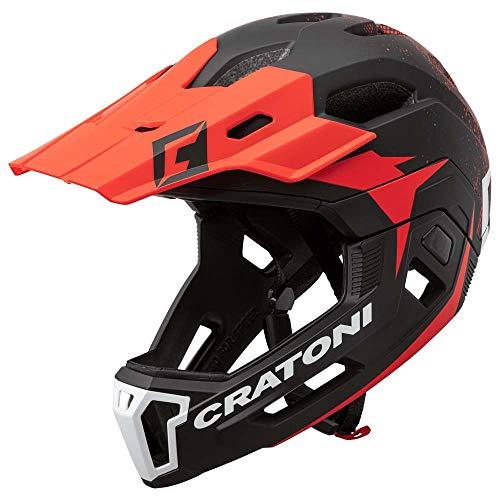707853VAR - Casco bicicleta ciclismo C-MANIAC 2.0MX MTB COLOR NEGRO/ROJO TALLA 52-56