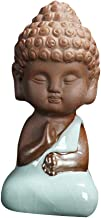 Prettyia 1 Piece Rulai Buddha Statue Clay Material Ornament - Chanting, as described