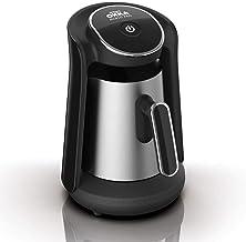ارزوم اوكا - ماكينة قهوة تركى بـــــ وش منيوا بروا - اسود/فضى - OK0010-K