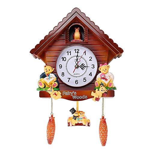 RUIXINBC Reloj De Pared De Cuco Vintage Montado En La Pared, Reloj Despertador De Cuco Sala De Estar Decoración De Reloj De Habitación para Niños