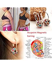 LONG-X 1 Paio Magnetic Orecchini Dimagranti Perdere Peso Rilassamento del Corpo di Massaggio Sottile Ear Studs Patch,Argento