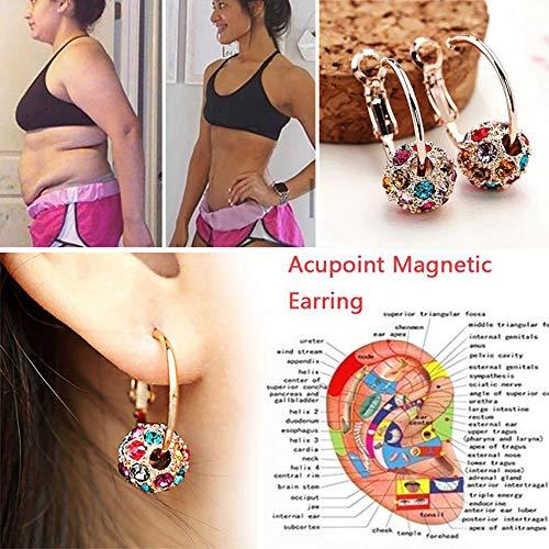 LONG-X Pendientes Adelgazantes Magnéticos, 1 Par, para Perder Peso, Masaje Relajación Corporal, Espárragos Delgados, Joyería De Salud,Vistoso