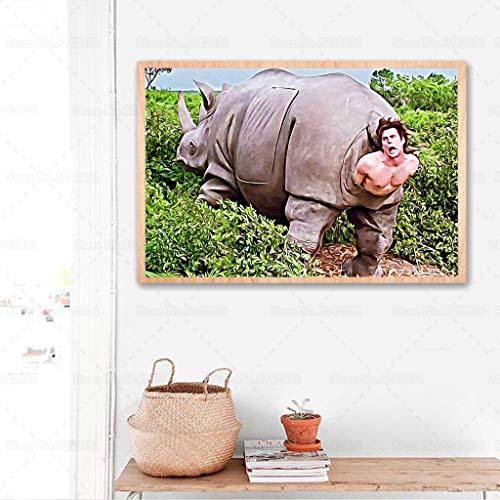 Puzzle 1000 Piezas Escena Divertida de Rinoceronte Puzzle 1000 Piezas educa Educativo Divertido Juego Familiar para niños adultos50x75cm(20x30inch)