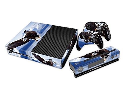 Xbox ONE Designfolie für Konsole + 2 Controller + Kamera Sticker Skin Set – Eagle