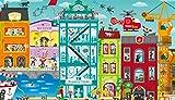 Hape- Puzzle Animado de Ciudad (E1629)