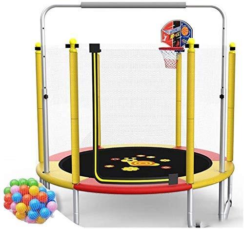 LuoMei Große 5Ft Kinder Trampolin Horizontal Bar Hochelastisches Trampolin Rutschfest Leise Wasserdicht und Atmungsaktiv Indoor und Outdoor Eltern-Kind Unterhaltungsspielzeug