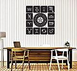 Gtfzjb Etiqueta de vinilo extraíble Zodiac Set Iconos de etiqueta de la pared Astrological Studio Decoration Etiqueta de pared de vinilo Zodiac Symbol Decals AY571 57x57cm