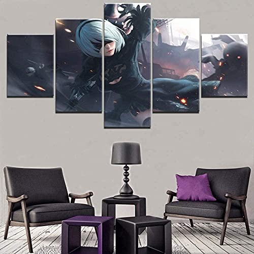 NieR Automata Yorha Game Poster Wall Ative Modular Leinwand gedruckt Modern ng / rahmenlos