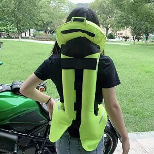 LSSLA Radfahren Warnweste Airbag Weste Abriebfeste Reiß ist weich und leicht zu reinigen Motorrad Airbag Weste geeignet für Motorräder und Geländefahrzeuge,Grün,XL