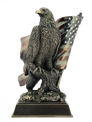 Unbekannt Weißkopfseeadler mit US Flagge Adler Freiheitsstatue Statue of Liberty Figur Skulptur