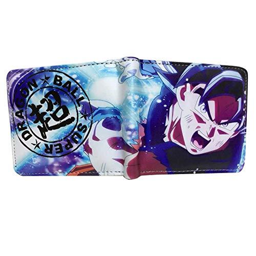 ANDD Carteras para hombre Billetera Hombres Anime Cartoon Dragon Ball Super Goku Billetera para Tarjetas de crédito