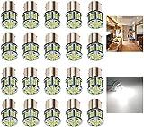 KISLED 12V RV LED Lights, 1141 1156 1003 1073 BA15S 7506 LED Bulbs for RV Camper Trailer Boat Trunk Interior Indoor Tail Lights, White(20-Packs)