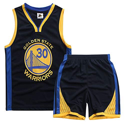 Basketball-Trikots Set für Kinder Curry #30 Basketballspieler-Trikot Basketball-Shirt Weste Top Sommershorts für Jungen und Mädchen