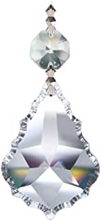 Crystalplace 10 Large French Pendalogue Crystal Prisms Silver Bow Tie