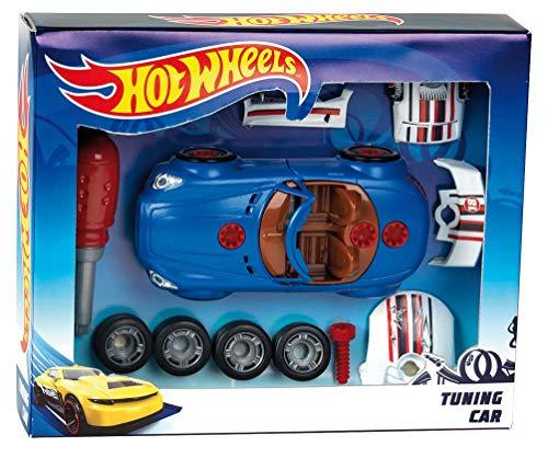 Theo Klein 8010 Hot Wheels Car Tuning Set, zerlegbares Auto für Kinder mit Werkzeug und Schrauben, Spielzeug ab 3 Jahre