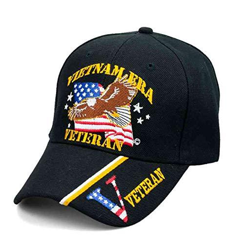Vietnam Era Veteran Patriotic Baseball Hat with Bald Eagle, American Flag & Veteran on Bill