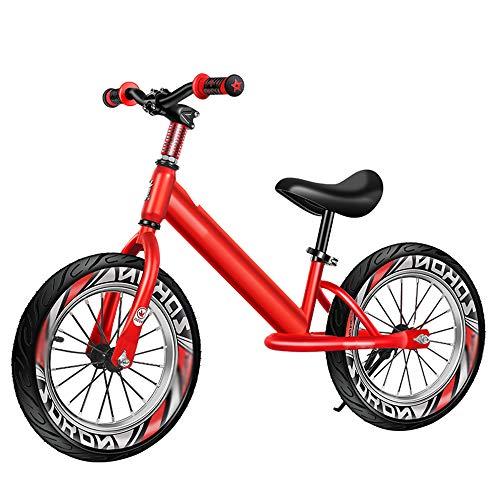 LYXCM Bicicleta Sin Pedales Ultraligera, Bicicleta de Scooter para niños sin Pedal con neumáticos de Goma de 12'Bicicleta de Cuadro de Paso fácil