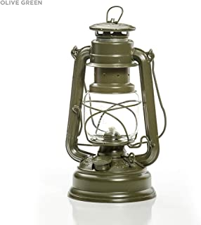 Feuerhand Galvanized Lantern - Olive Green