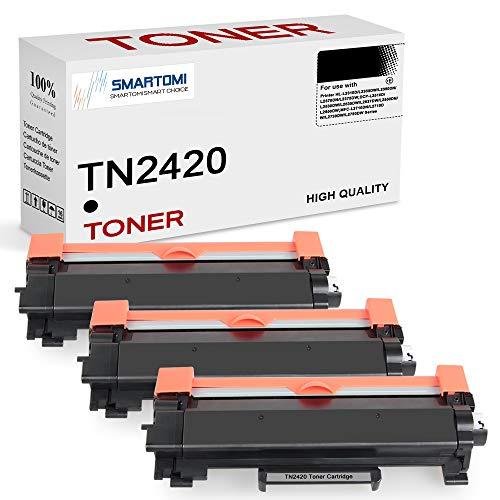 SMARTOMI TN2420 TN2410 (con Chip) Cartuccia Toner Compatibile per Brother MFC-L2710DW MFC-L2710DN MFC-L2730DW MFC-L2750DW DCP-L2510D DCP-L2550DN HL-L2310D HL-L2350DW HL-L2370DN HL-L2375DW