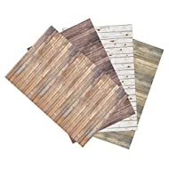 """Ella Bella Photography Backdrop Paper, Assorted Wood (1 ea.: Vintage, Sable, Rustic & White Washed), 48"""" x 12', 4 Rolls"""