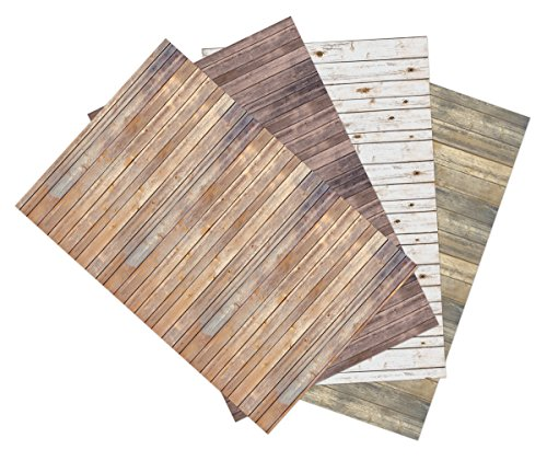 "Ella Bella Photography Backdrop Paper, Assorted Wood (1 ea.: Vintage, Sable, Rustic & White Washed), 48"" x 12', 4 Rolls"