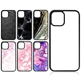 6 Pieces Sublimation Blanks Phone Case Covers DIY 2D Rubber Phone Protective Case 6.1 Inch Anti-Slip Cell Phone Case Compatible with iPhone 11