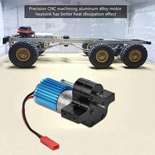 Dilwe RC-Getriebe, Metallgetriebe-Drehzahländerung mit 370-Bürstenmotor für WPL 1633 RC-Auto( Schwarz)