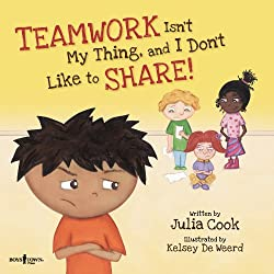 "School counselor review of the book ""Teamwork Isn't My Thing"" and amazon link"