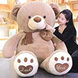 N\C 100-200cm Oversized Teddy Bear UnStuffed Animals Bear Stuffed Plush Toys Gifts