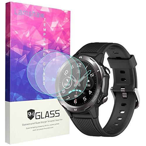 LvBU Für UMIDIGI Uwatch GT Displayschutzfolie [3 Pack], 9H Härte Panzerglas Schutzfolie für Uwatch GT Smartwatch