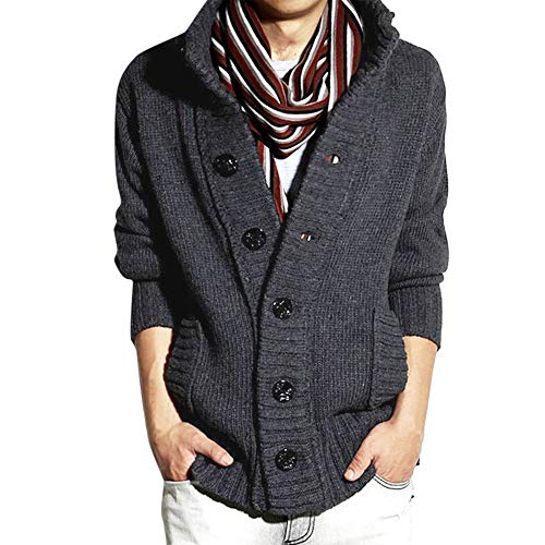 Amazing Deal NEARTIME Mens' Winter Sweater Long Sleeve Zipper Hooded Sweatshirt Cardigan Tops Hoodie...