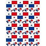 SpringPear 12x Tatuaje Temporal de la Bandera de Panamá para Competiciones Internacionales Juegos Olímpicos Copa del Mundo Impermeable Banderas Tatuaje Etiqueta Adhesiva Fan Set (12 Piezas)