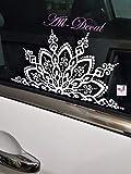 Mandala Car decal   Mandala Sticker   Mandala Vinyl Decal Sticker   Flower Decal