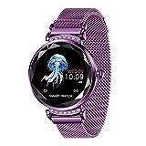 H2 New catégorie Fitness Bracelet Femmes Pression Artérielle Surveillance du Rythme Cardiaque Wristband Lady Montre Cadeau for Un ami + boîte (Color : Purple)