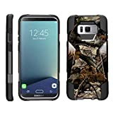 TurtleArmor | Compatible for Samsung Galaxy S8+ Case | S8 Plus Case | G955 [Dynamic Shell] Hybrid Dual Layer Hard Shell Kickstand Silicone Case - Tree Leaves Camouflage