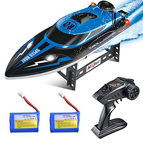 ETEPON Barcos de Radiocontrol Alta Velocidad , Barco de Control Remoto para Largo y Piscina para Niños y Adultos (EHJ808)