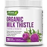 Organic Discounters USDA Organic Milk Thistle Extract Capsules, 280 Count, 7500 mg Strength, Potent 30:1 Extract, USDA Certified Organic, Rich in Silymarin Flavonoids, Vegan, Non-GMO and All-Natural