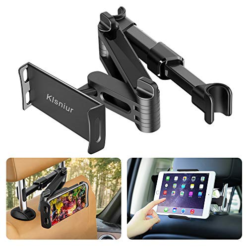 Car Headrest Mount/Tablet Holder Car Backseat Seat Mount/Tablet Headrest Holder Universal 360° Rotating Adjustable for All 6'-10.5' Tablet iPad iPad Air iPad Mini,Samsung Galaxy