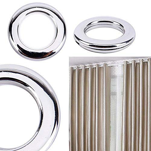 Marwotec Verbindungselemente 20 Stück Stoffösen für Stoffloch Ø 40 mm, verwendbar für alle Stoffstärken, 20 Stück, Kunststoff, Silber Glanz