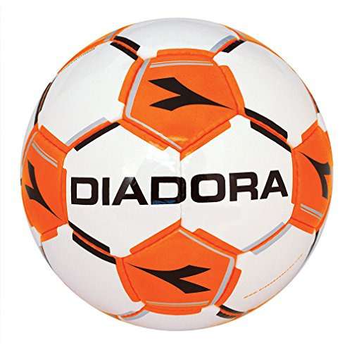 Diadora Euro palla da calcio, Unisex - Adulto, White / Flou Orange, 4
