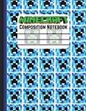 Minecraft Composition Notebook: Wide Ruled Notebook Paper for Kids / Large Writing Journal for Homework - Notes - Doodles / Minecraft Gamer Pattern ... School for Boys Girls Children ( 120 Pages )